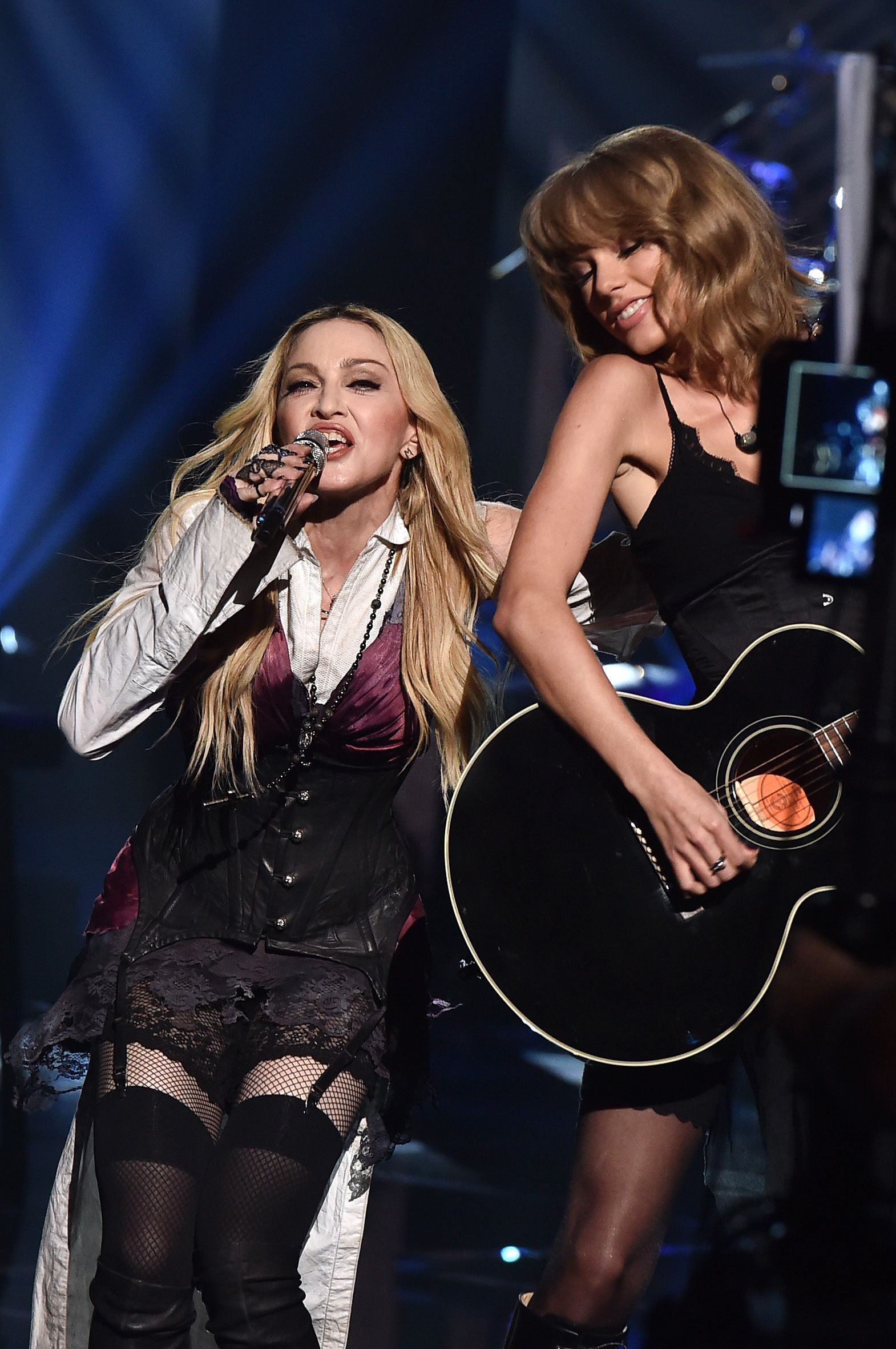 "Madonna and Taylor Swift busted out a surprise duet at this weekend's iHeartRadio Music Awards, performing Madonna's new single, ""Ghosttown,"" from her new album, Rebel Heart."