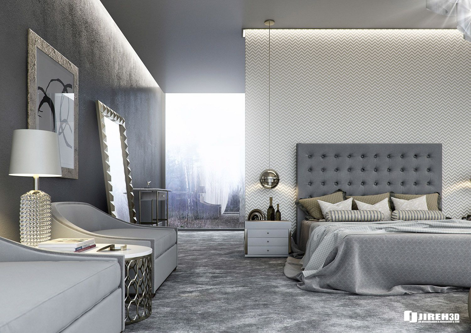 Modern Classic Bedroom Design Ideas Custom Modern Classic Bedroom Scene Created For Educational Purposes Sp Design Decoration