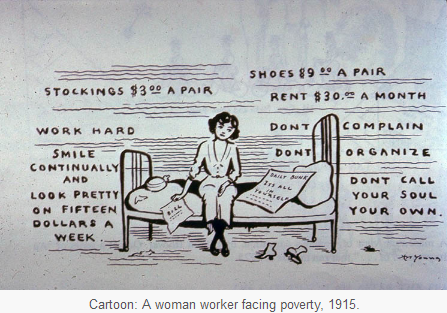 Womens Rights Cartoon; United States 1915