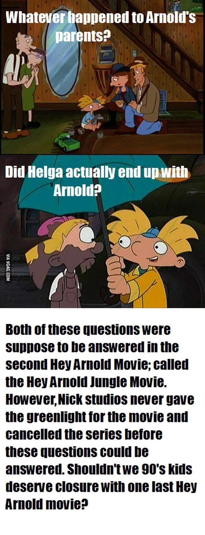 Really Nickelodeon? Really? Hey arnold movie, Hey arnold