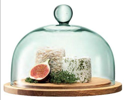 Glasplatte 22 cm mit 2 cm rand und passender glashaube for Kuchen glasplatte