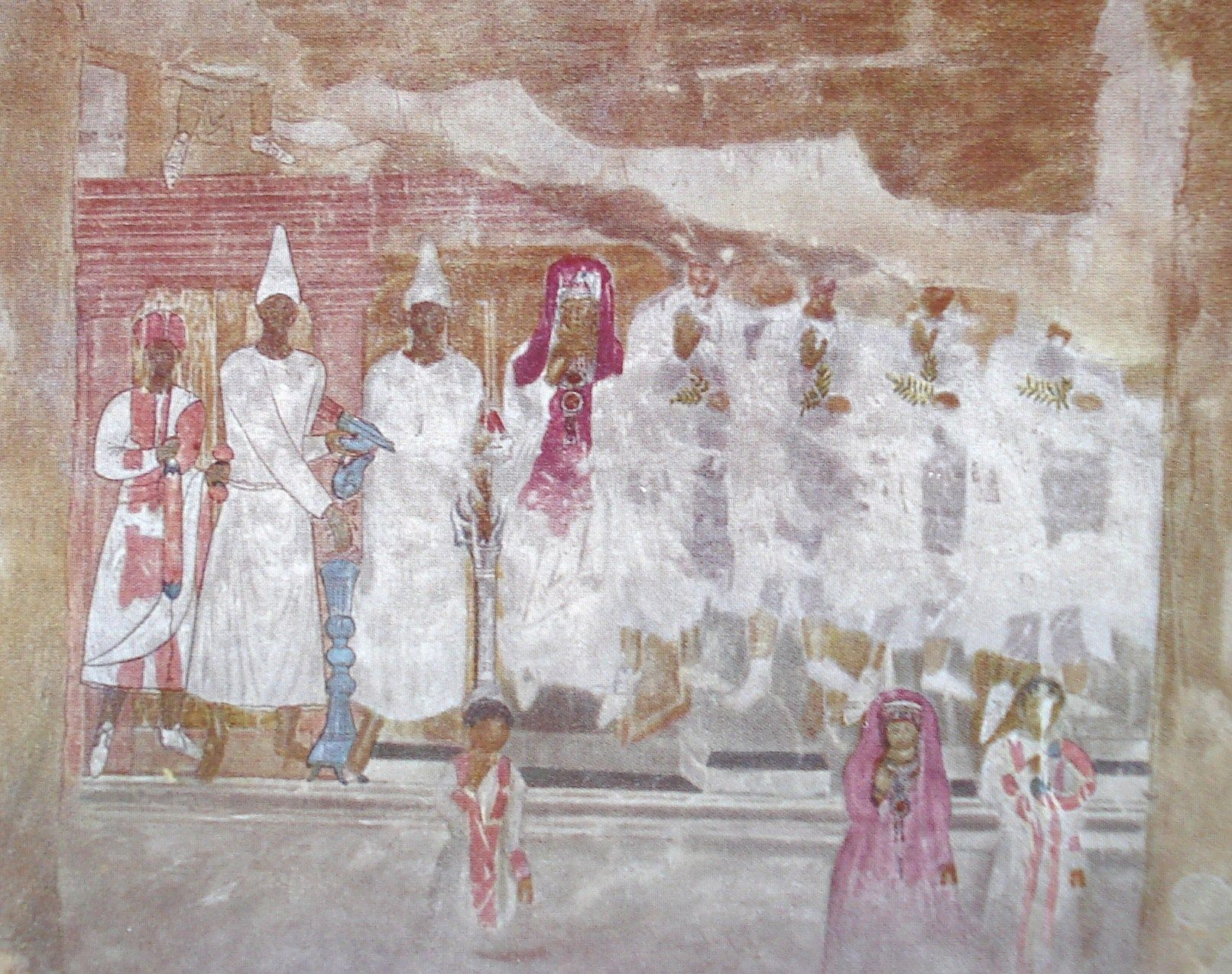 Sacrifice of Conon   Unknown c.50 CE   wallpainting (detail)   Nationale Museum, Damascus, Syria