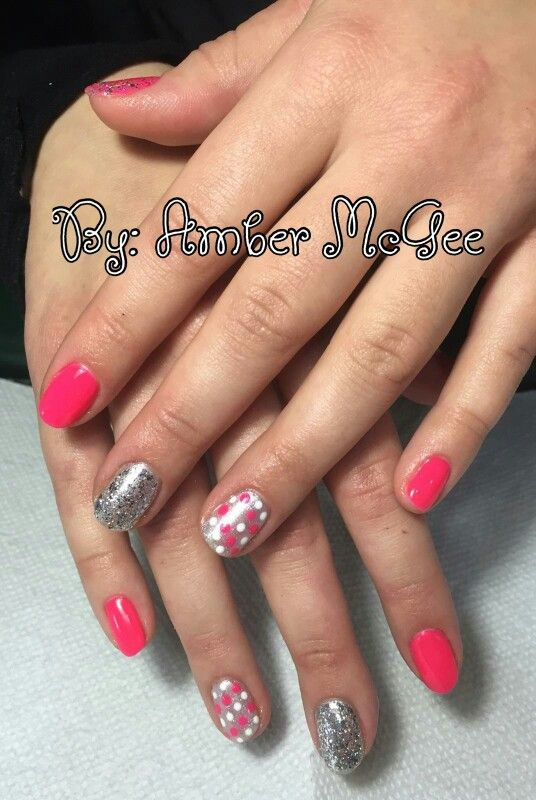 The Oasis Salon Spa in Watertown, WI, #polkadotnails | Amber, Nail ...