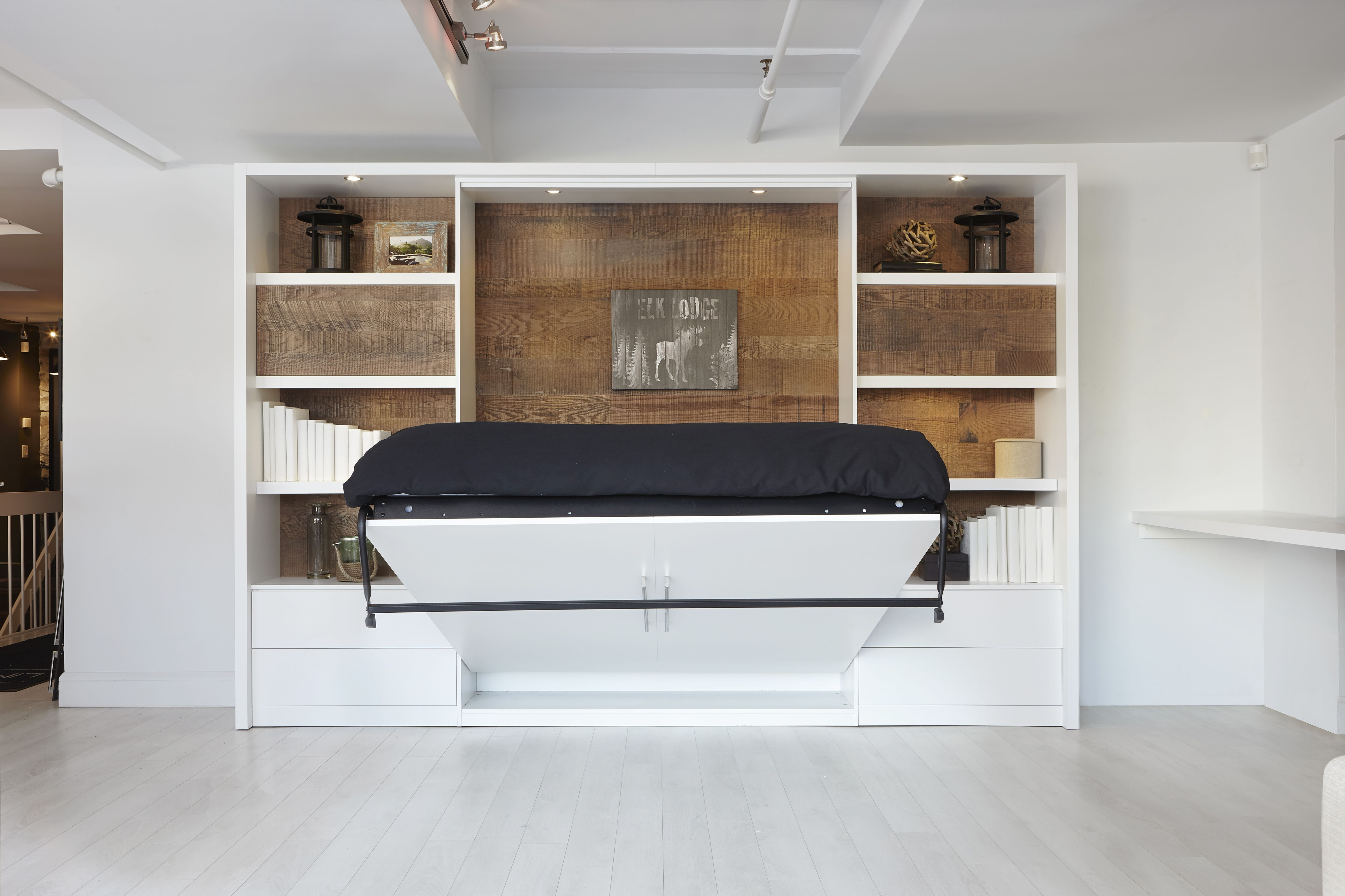 Lit Escamotable Demi Ouvert  Murphy Bed In Action