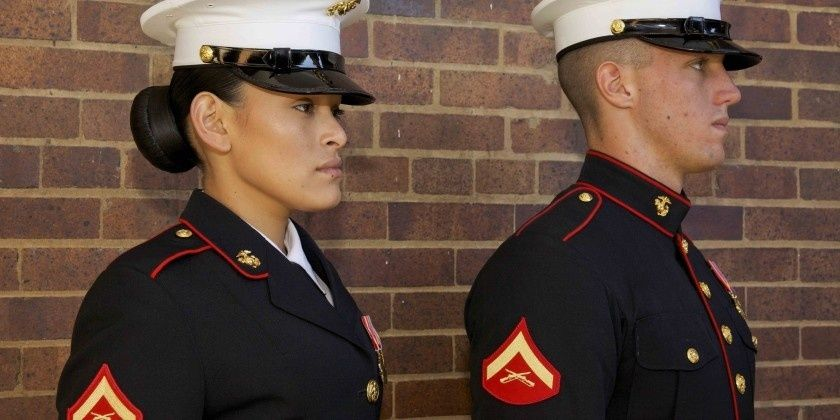 first marines to get new women s uniform graduate boot camp