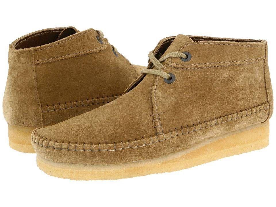 Clarks Original Wallabee Desert Weaver Mens Tan Suede Leather Boot Shoe  75558