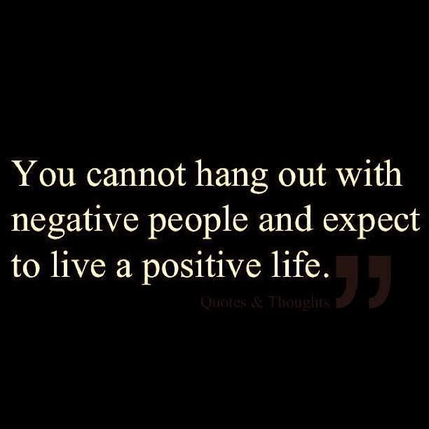 don't waste time with negativity