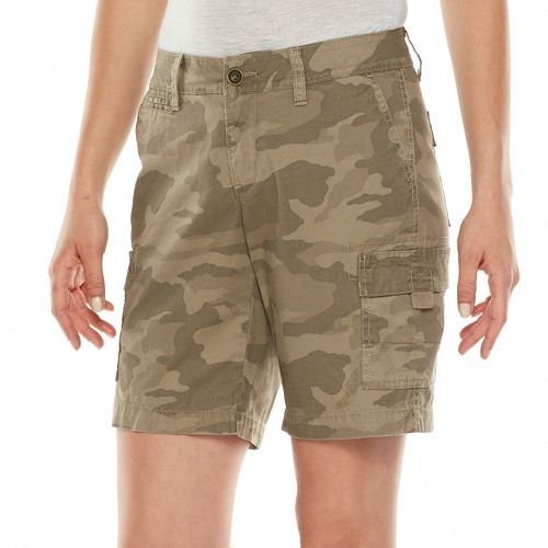 kohl's sonoma life   style® Cargo Bermuda Shorts - Women's ...