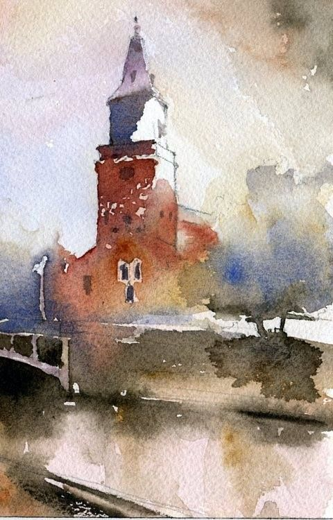 Good Subject Matter For Art Watercolor Architecture Watercolor