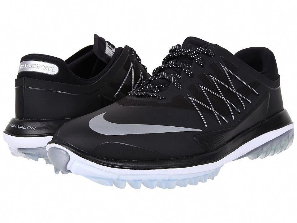 Nike Golf Lunar Control Vapor Men s Golf Shoes Black Metallic Silver White   mensgolfshoes 2d573525b