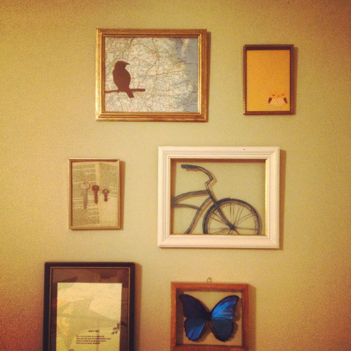 Wall collage with Goodwill frames.   Found & Finished   Pinterest ...