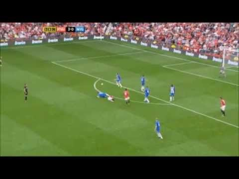 Nick Powell first goal vs Wigan Manchester United vs Wigan 4-0