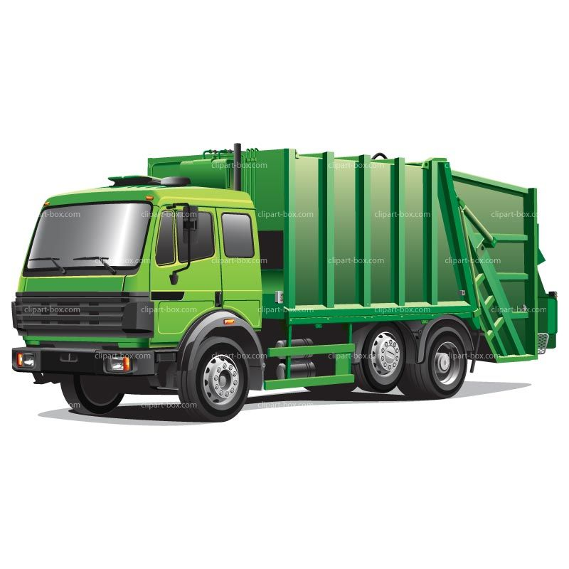 CLIPART GREEN GARBAGE TRUCK | Royalty free vector design | Cars ...