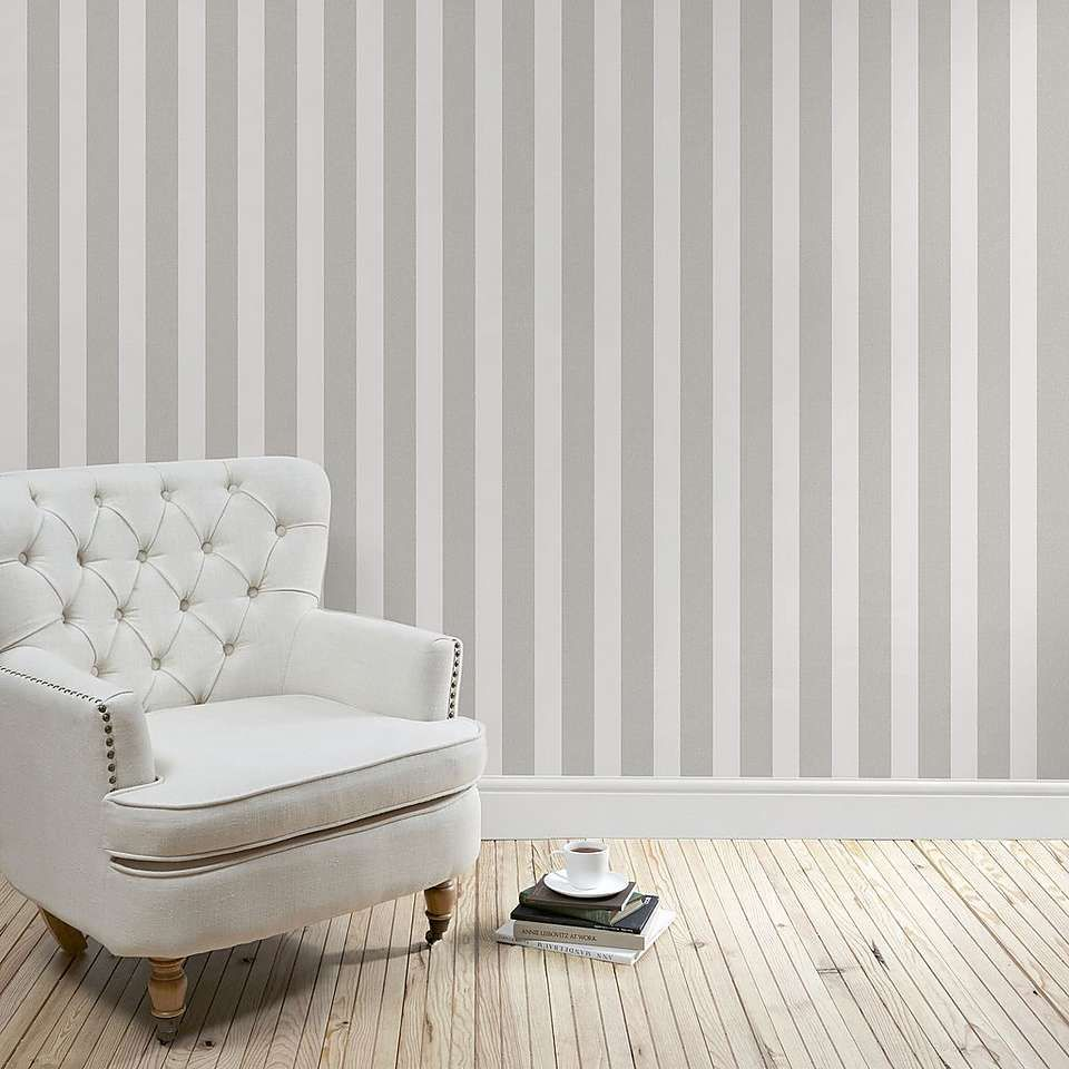 Heritage Grey Stripe Wallpaper Striped Wallpaper Living Room Stripe Wallpaper Bedroom Living Room Grey