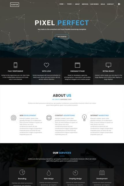 Kanter Creative Responsive Minimalistic Html Website - Minimalist website template