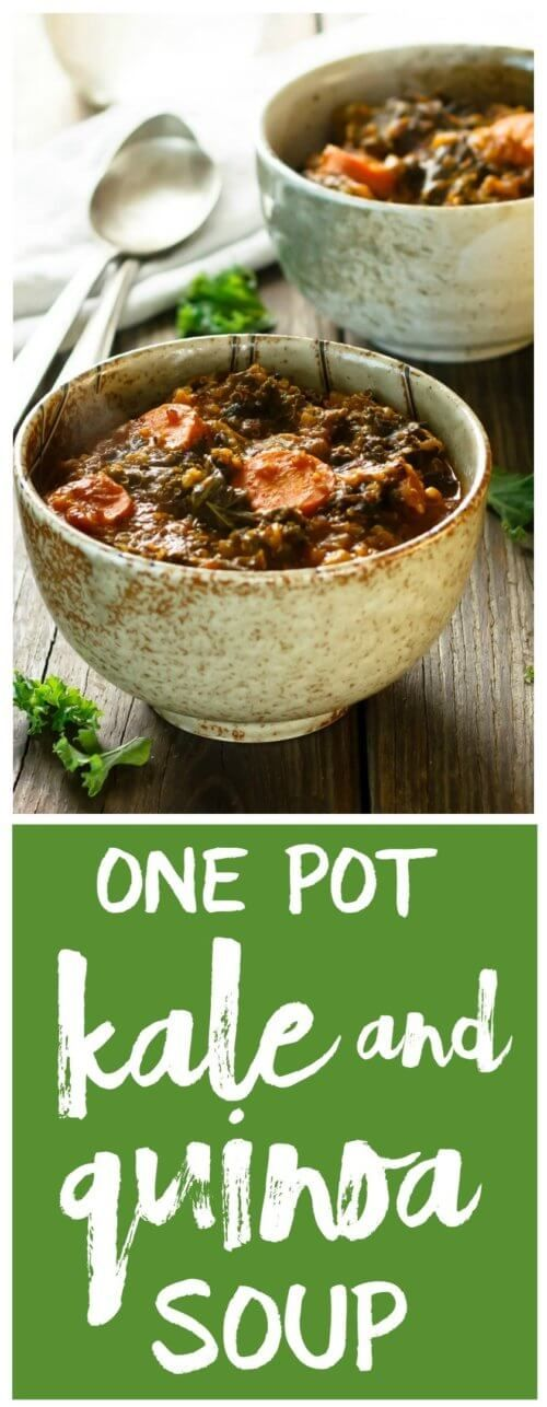 Clean Eating One Pot Kale and Quinoa Soup Recipe