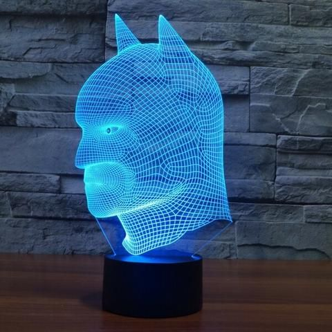 Batman New 3d Led Light Lamp Acrilico