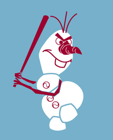 """FROZEN"" Olaf Baseball Player!!!  Awesome! Wish it had a Phillies symbol on it somewhere!"