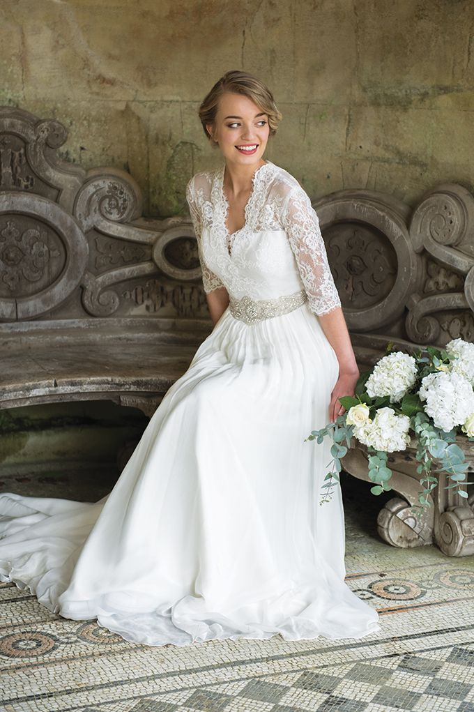 Wisteria is the most romantic of bridal gowns. The delicate syling ...