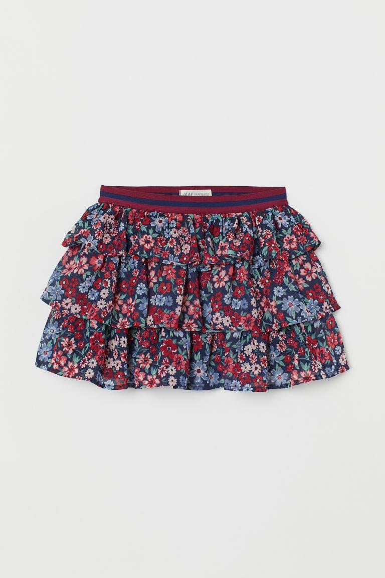 Falbaniasta Spodnica We Wzory Ciemnoczerwony Kwiaty Dziecko H M Pl Fashion Pastel Goth Fashion Tiered Skirts