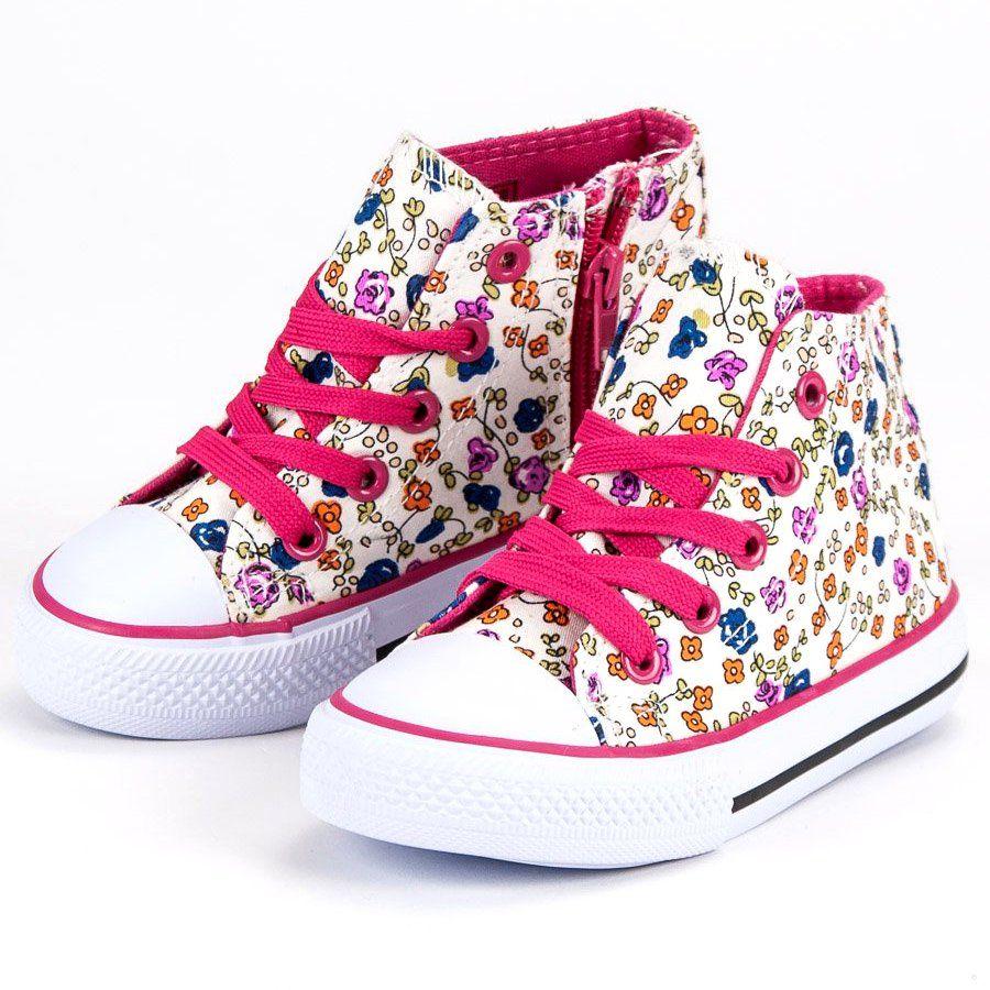 Buty Sportowe Dzieciece Dla Dzieci Butymodne Wysokie Trampki W Kwiaty Chuck Taylor Sneakers Chucks Converse Top Sneakers