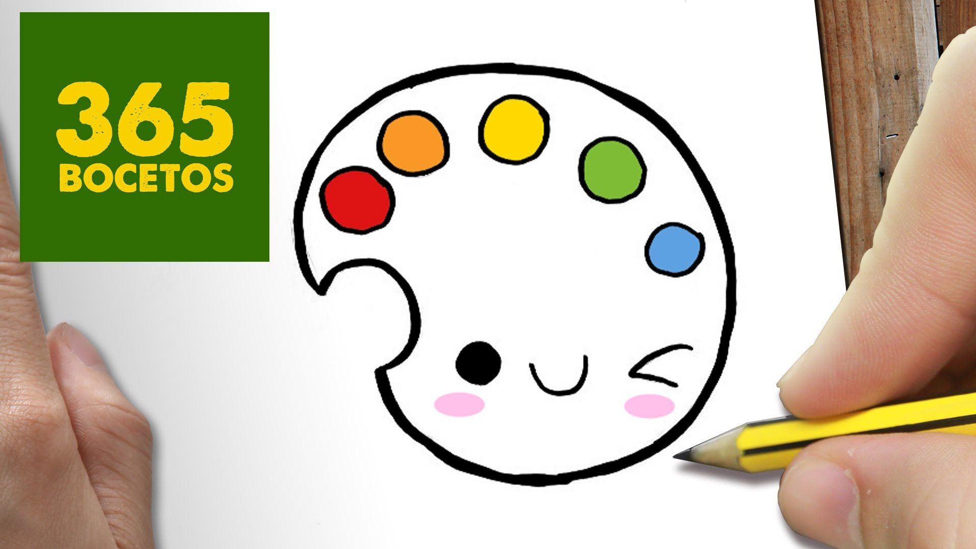 Como Dibujar Paleta De Colores Kawaii Paso A Paso Dibujos Kawaii