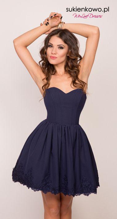79e98c33 TINA - tiulowa sukienka z kamieniami czarna | Cocktail dresses w ...