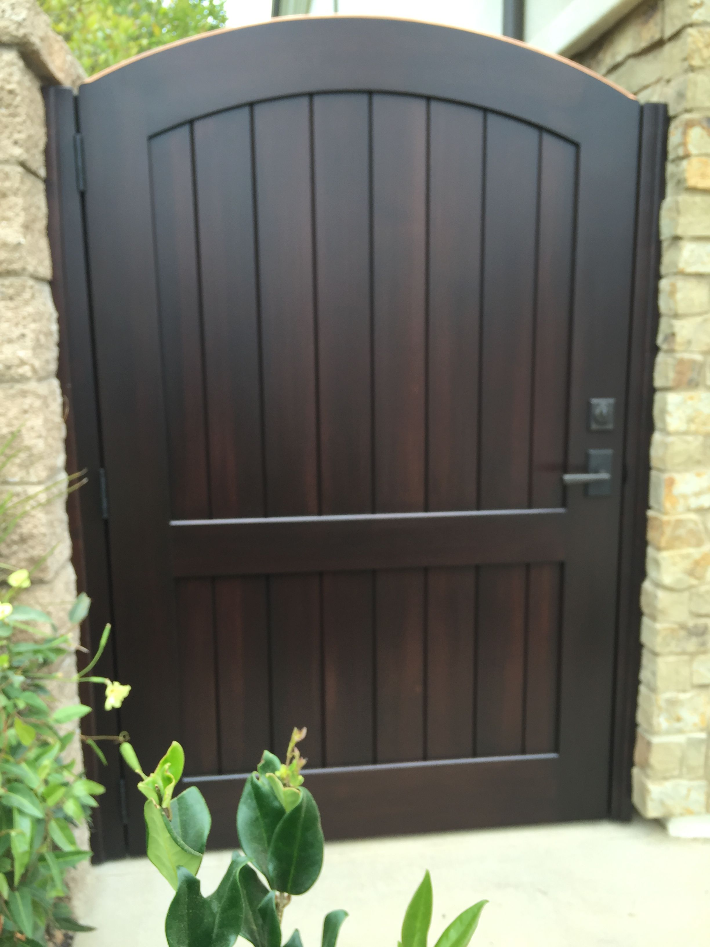 Custom Wood Gate by Garden Passages  Wood gate, Backyard gates