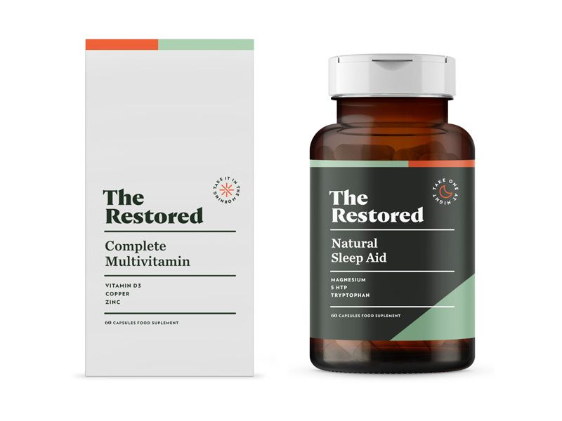 The Restored pt1 3 is part of Vitamin brands, Supplements packaging, Packaging labels design, Brand packaging, Vitamins, Restoration - Brand direction 1 on The Restored supplements