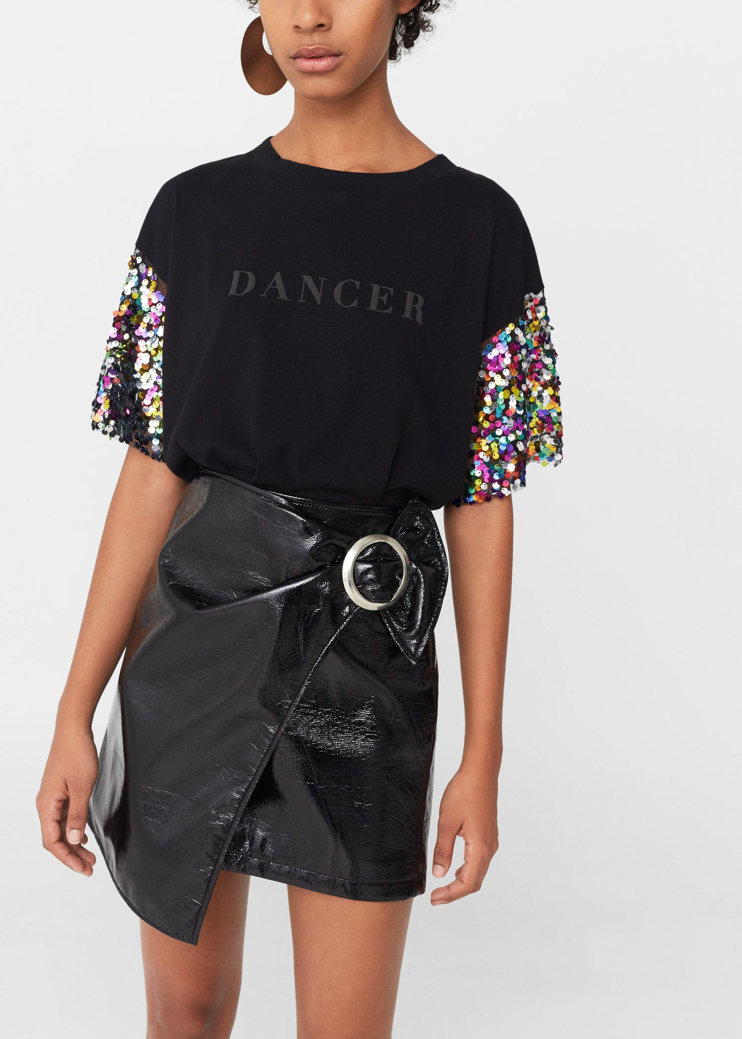 8c493b8bd Camiseta lentejuelas - Camisetas de Mujer