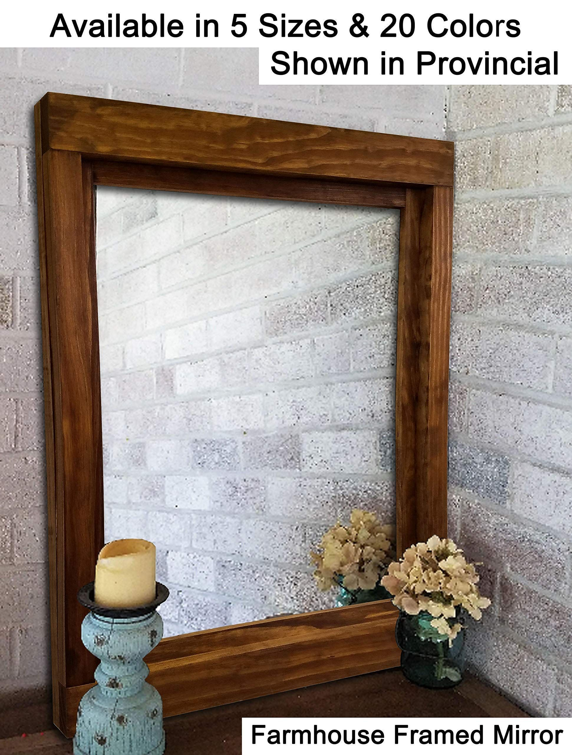 Farmhouse large framed mirror available in 6 sizes and 20