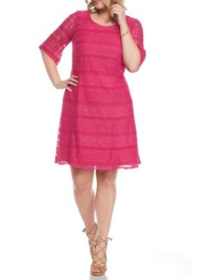 525ba74a2e4 Chris Mclaughlin Women s Plus Size Crochet Lace Dress - Fuchsia - 22W