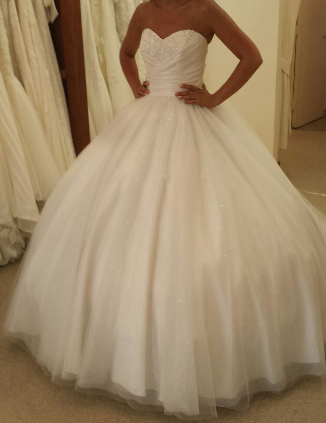 Poofy wedding dresses my big poofy alfred angelo for White cinderella wedding dress