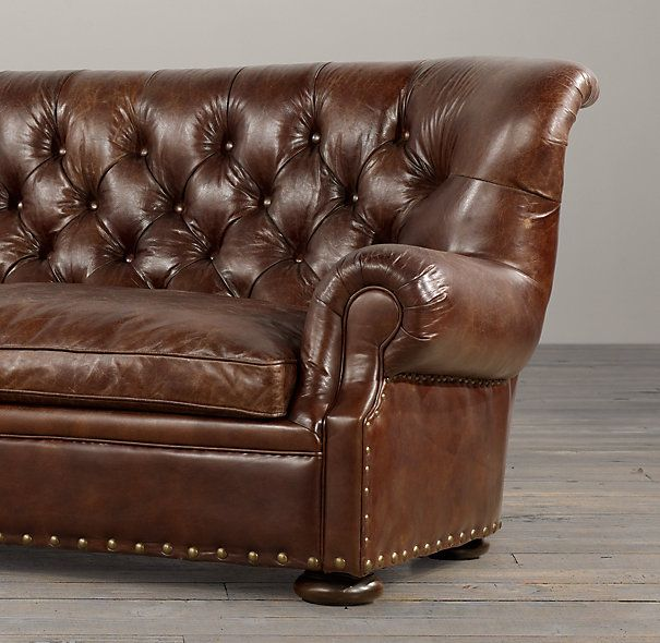 Love The Nailhead / Leather Look For A Log Cabin! Churchill Leather Sofas  With Nailheads