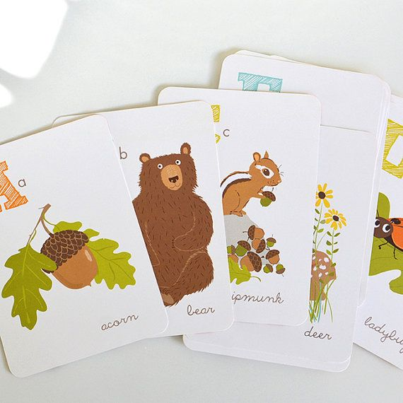 Woodland Forest ALPHABET print set nursery by SeaUrchinStudio