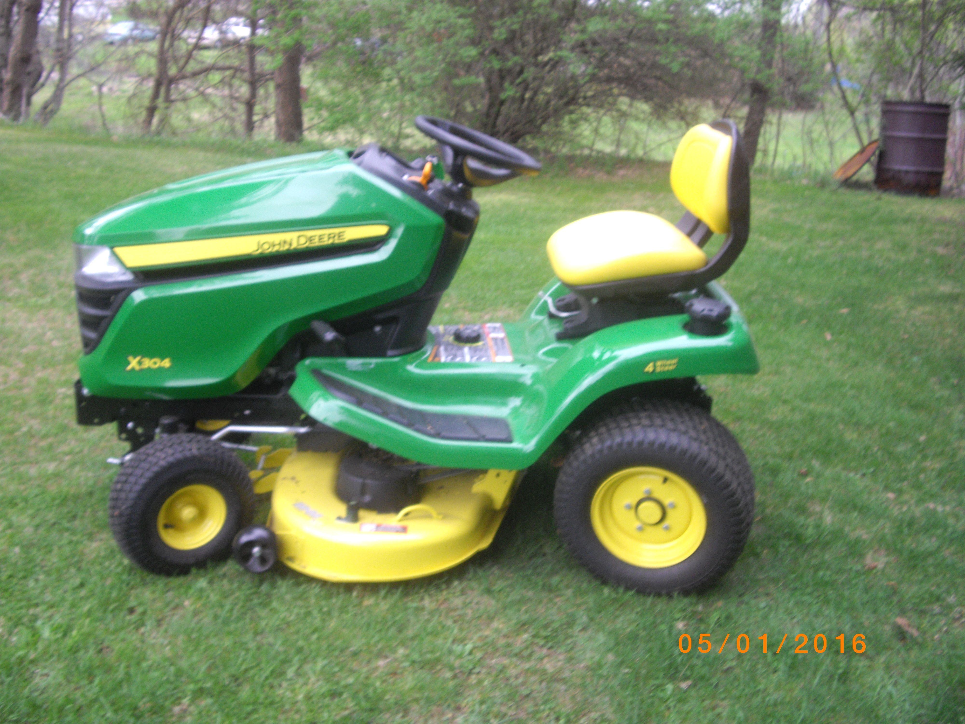 John Deere X748 Utility Garden Tractor Diesel 24hp Hydro 4x4 54
