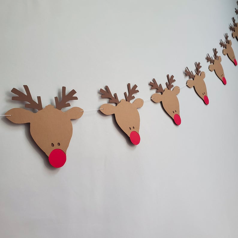 Rudolph Christmas 2020 Banner Rudolph the Red Nosed Reindeer Rudolph Banner Rudolph | Etsy in