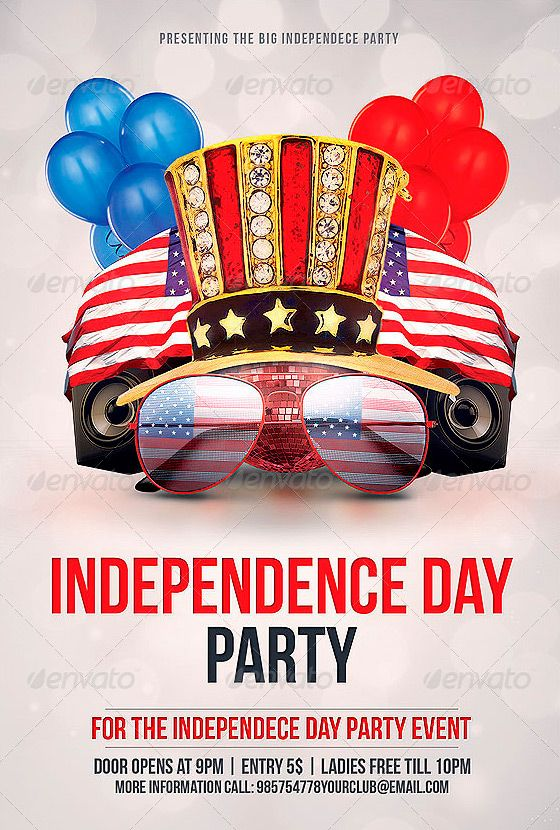 Independence Day Party Flyer Template - Http://Www.Ffflyer.Com