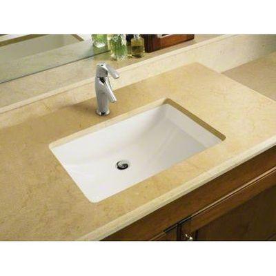Kohler K 2215 0 Ladena White Undermount Single Bowl Bathroom Sinks Rectangular Sink Bathroom Undermount Bathroom Sink Rectangular Sink