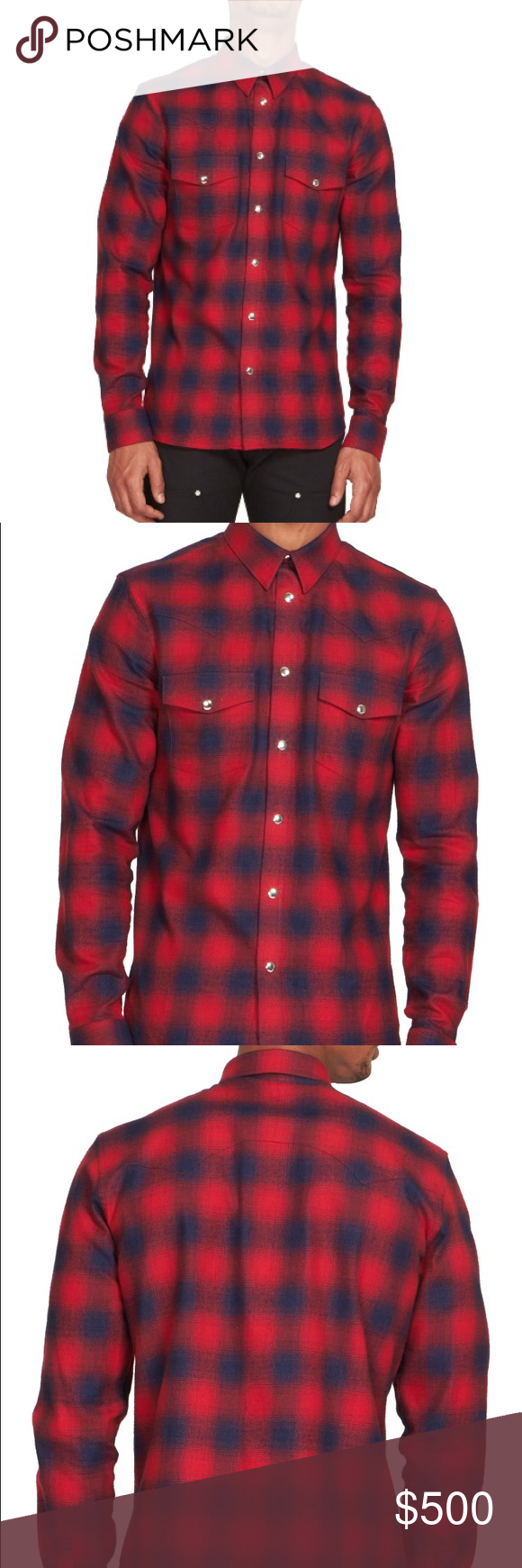 358ffa27ab1e Men s givenchy plaid shirt Men s givenchy plaid shirt brand new with tags  from saks Givenchy Shirts Casual Button Down Shirts