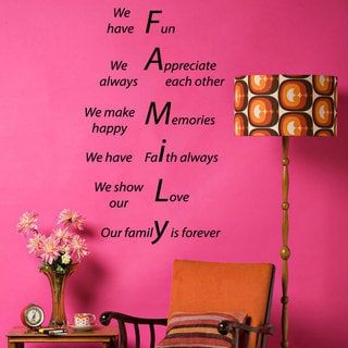 Family Is Forever Quotes Gorgeous Family Forever Quote Sticker Vinyl Wall Art  Overstock