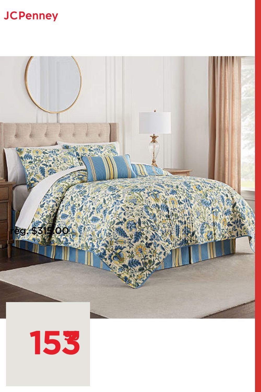 Waverly Imperial Dress Quilt Set One Size Blue In 2021 Quilt Dress Quilt Sets Cotton Texture