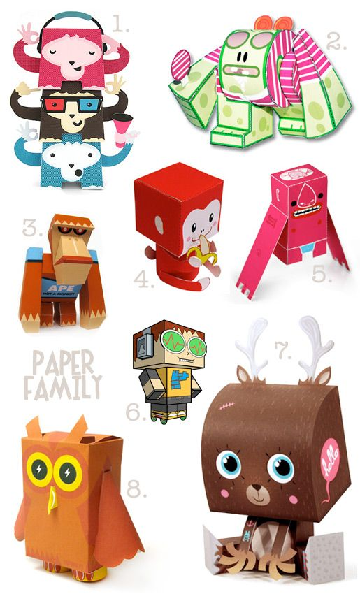 photograph relating to Free Printable Paper Crafts called College or university Family vacation Entertaining Papercraft Toys! Child different