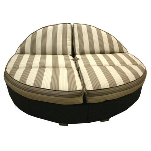 Patio Heaven Sb Rc 2 5 Wicker Round Double Chaise Outdoor Daybed
