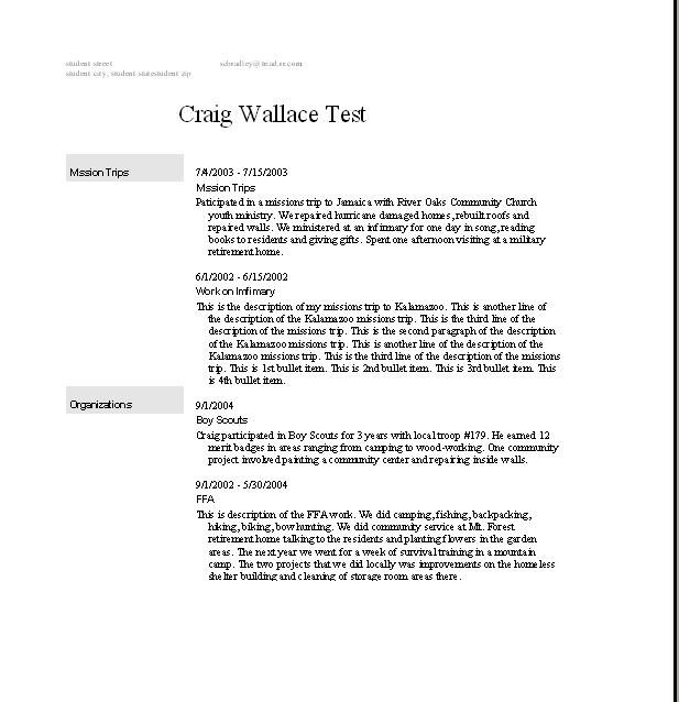 Resume Templates College Student No Job Experience -    www - security policy sample