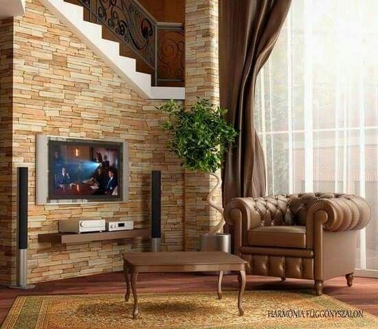 pared con fachaleta hogar pinterest fachaleta