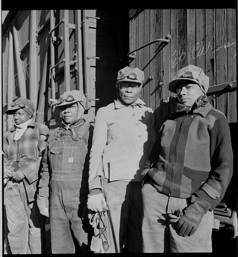 Railroad workers Almeta Williams, Beatrice Davis, Liza