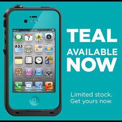 LifeProof Waterproof Case - Teal   Iphone 4 cases, Iphone ...