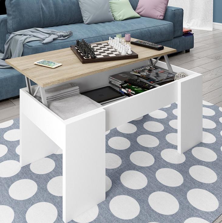 Tavolino Da Salotto Moderno E Di Design Linee Pulite Ampie E Robuste Superfici E In Finitura Bianco Artik E Rovere C Tavolini Mobili Moderni Tavolini Bassi