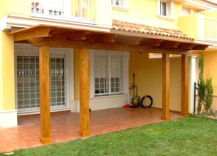 Pergolas cubiertas techos madera dise o instalacion toldos for Cobertizo de jardin moderno de techo plano